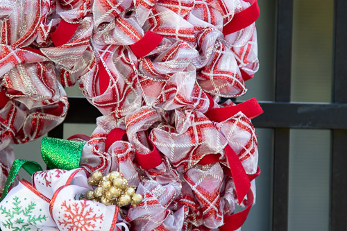 HOLIDAY CANDY CANE WREATH