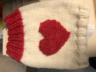 VALENTINE RED HEART DOGGY SNOOD