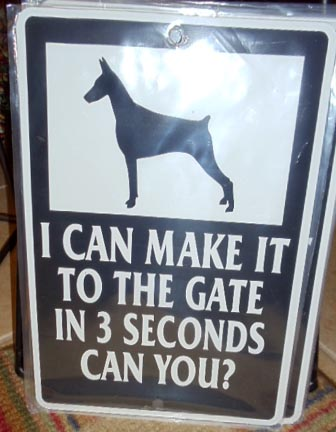 "Metal Sign, Size: 12"" tall x 9 3/4"" wide - I can make it to the gate in 3 seconds"