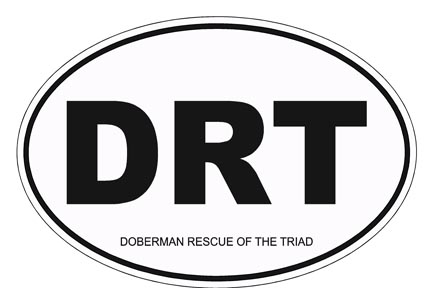"DRT Decal, Size 5"" x 3 3/4"" (oval)"