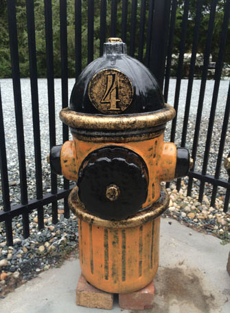 Cement Fire Hydrant # 4 - Hand Painted and Lacquer Coated